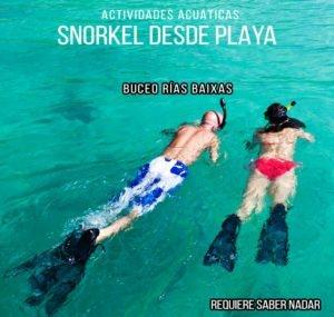 Snorkel desde playa